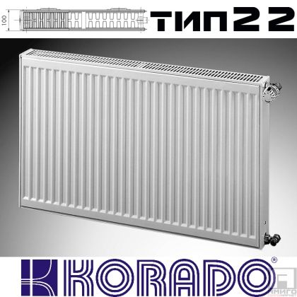 Панелен Радиатор KОРАДО Радик тип 22, 600x600 - 1285W