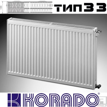 Панелен Радиатор KОРАДО Радик тип 33, 600x600 - 1844 W