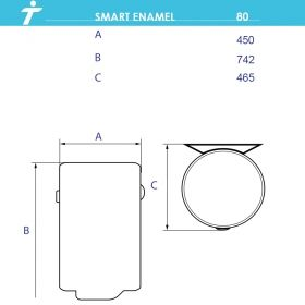 Бойлер TEDAN VF SMART ENAMEL 80л., 3kW
